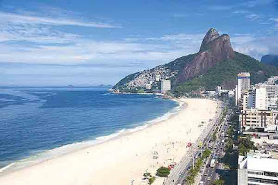 Beach of Leblon, Rio de Janeiro, Brazil.