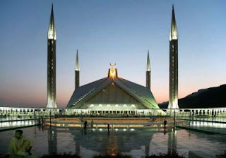 faisal mosque evening view