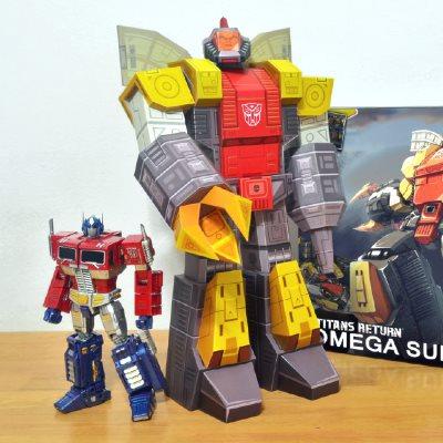 G1 Transformers Papercraft Omega Supreme