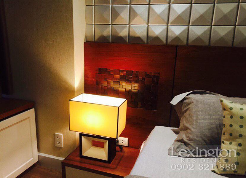 dự án lexington cho thuê căn hộ 1 phòng ngủ - đèn phòng ngủ
