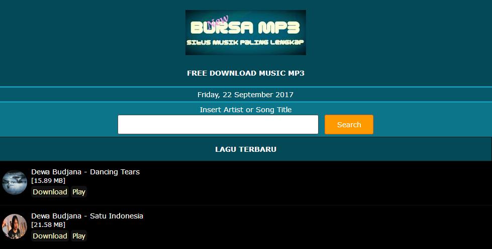 Situs Unduh Lagu Terbaik Dan Terlengkap Tanpa Ribet