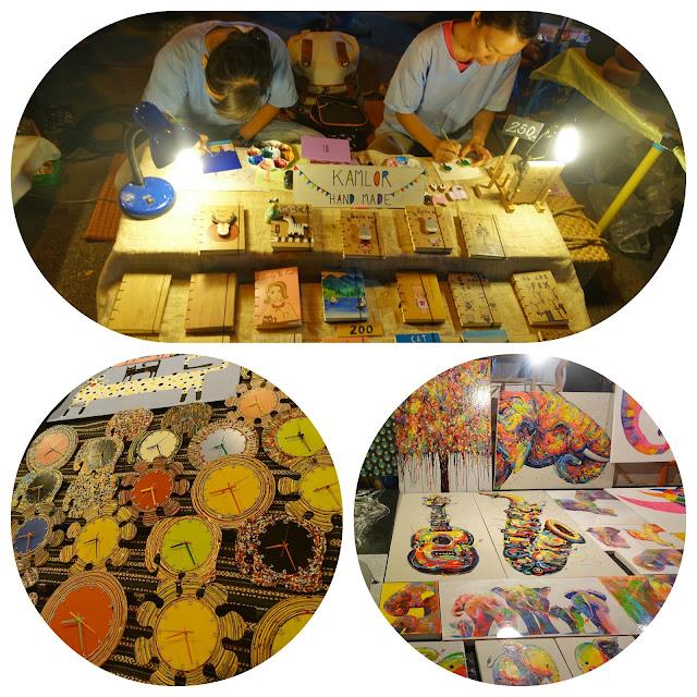 Thailand, Chiang Mai, walking street market, arts and crafts