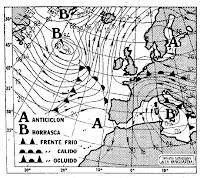 Mapa isobárico del 17/2/79