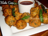Fenugreek Leaves Pakora