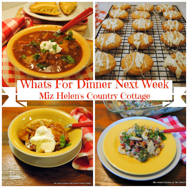 Whats For Dinner Next Week, 11-15-18 at Miz Helen's Country Cottage