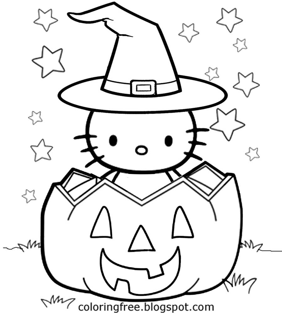 kid coloring pages halloween hello - photo#25