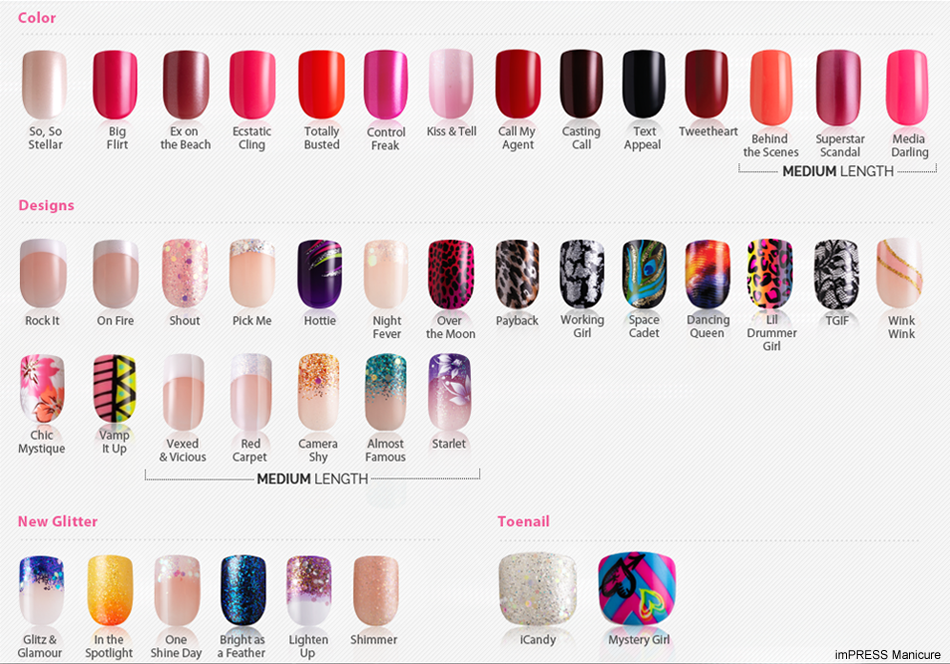 The christina truong network impress press on manicure colour designs available for 899 and patterns for 1099 at walmart target london drugs loblaws and more have you tried impress press on manicure prinsesfo Image collections