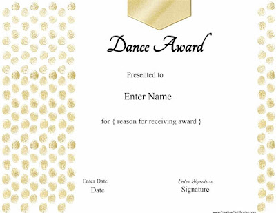 Certificate Templates For Dance Bhnvf