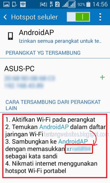 Cara menjadikan android sebagai modem laptop