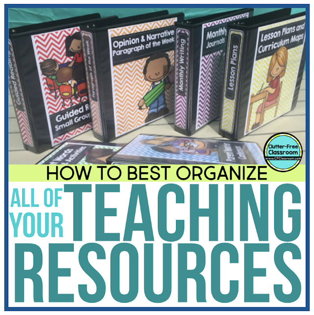 HOW TO ORGANIZE TEACHING RESOURCES and WORKSHEETS | Clutter ...