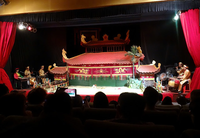 Water Puppet Show Stage at the Golden Dragon Water Puppet Theatre in Ho Chi Minh City