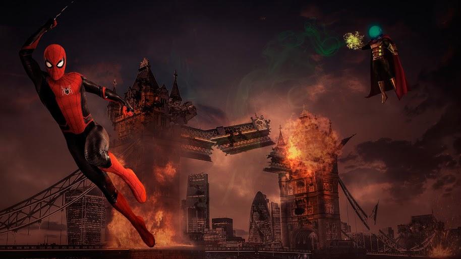 Spider Man Mysterio Spider Man Far From Home 8k Wallpaper 66