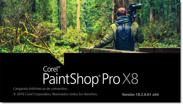 Corel PaintShop Pro X8 Español Versión 18.2