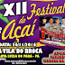 XII Festival do Açaí da comunidade do Broca será nesta sábado, 26