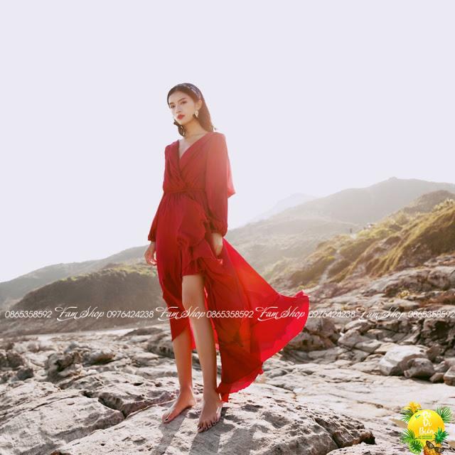 Cua hang ban vay maxi di bien o Thuong Thanh