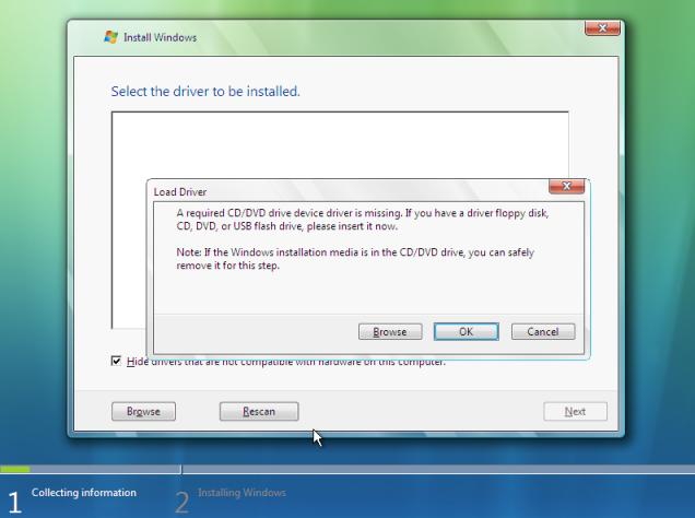 windows 7 install usb flash drivers