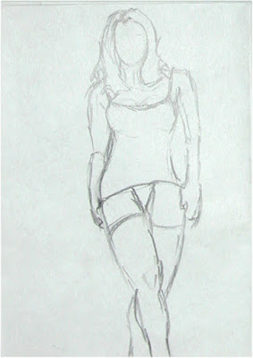 Walking Woman drawing