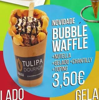 Folheto Bubble Waffle - Tulipa Dourada