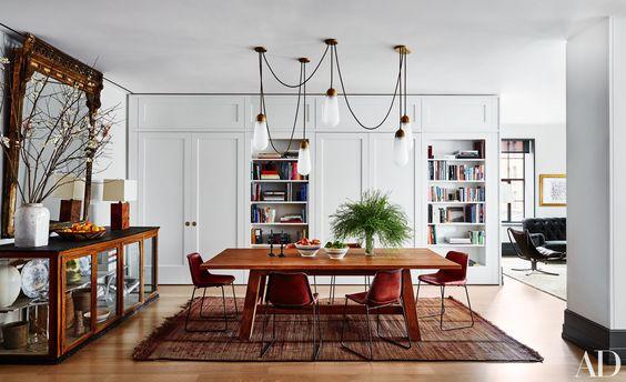 Naomi Watts and Liev Schreiber Manhattan Loft Dining Room