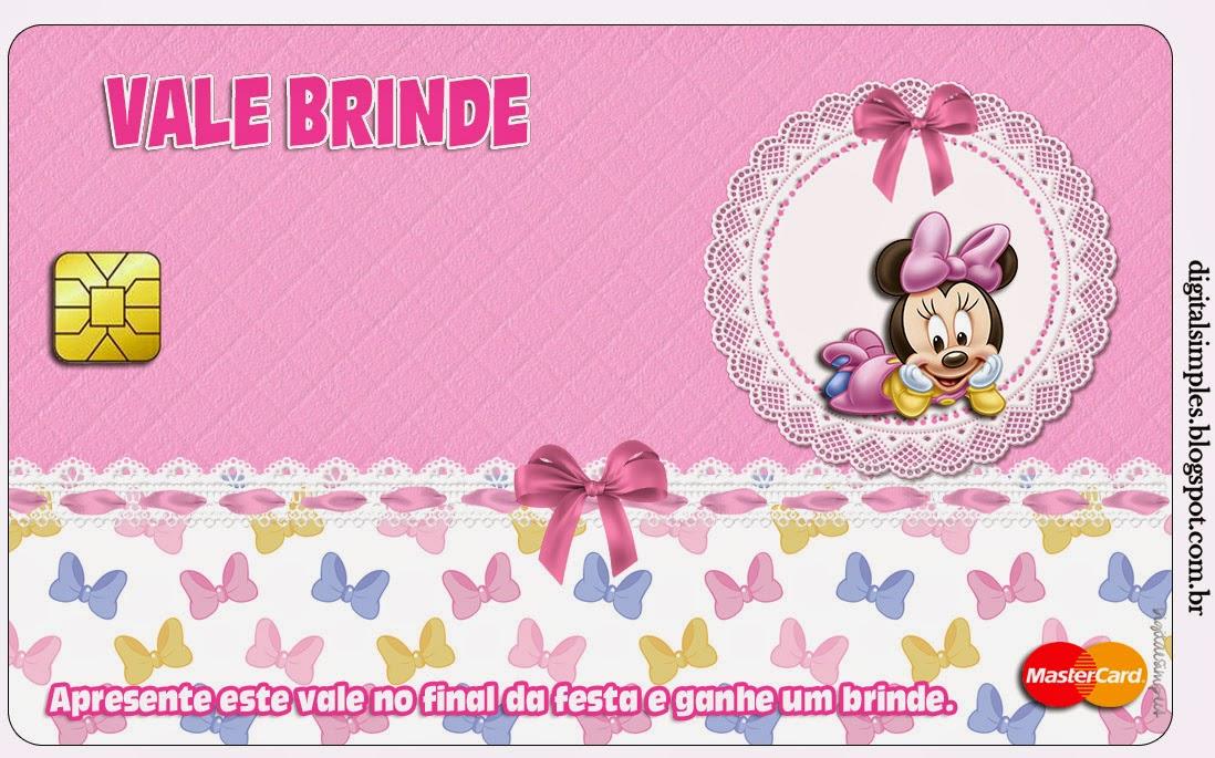 Tarjeta con forma de Master Card de Minnie Bebé.