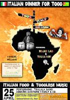 25 APRILE 2015 ITALIAN DINNER FOR TOGO