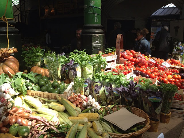 Fresh veg at Borough Market, London