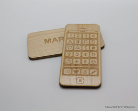 wooden smart phone from treasured fc