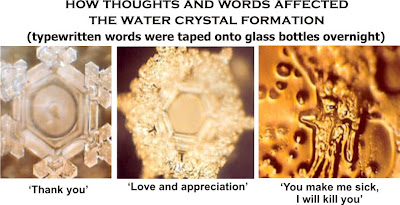 how thoughts and words affect water crystals