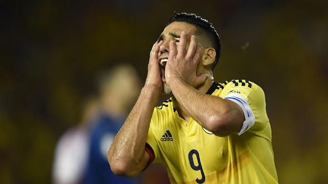 Radamel Falcao tras anotar el gol de Colombia vs Paraguay