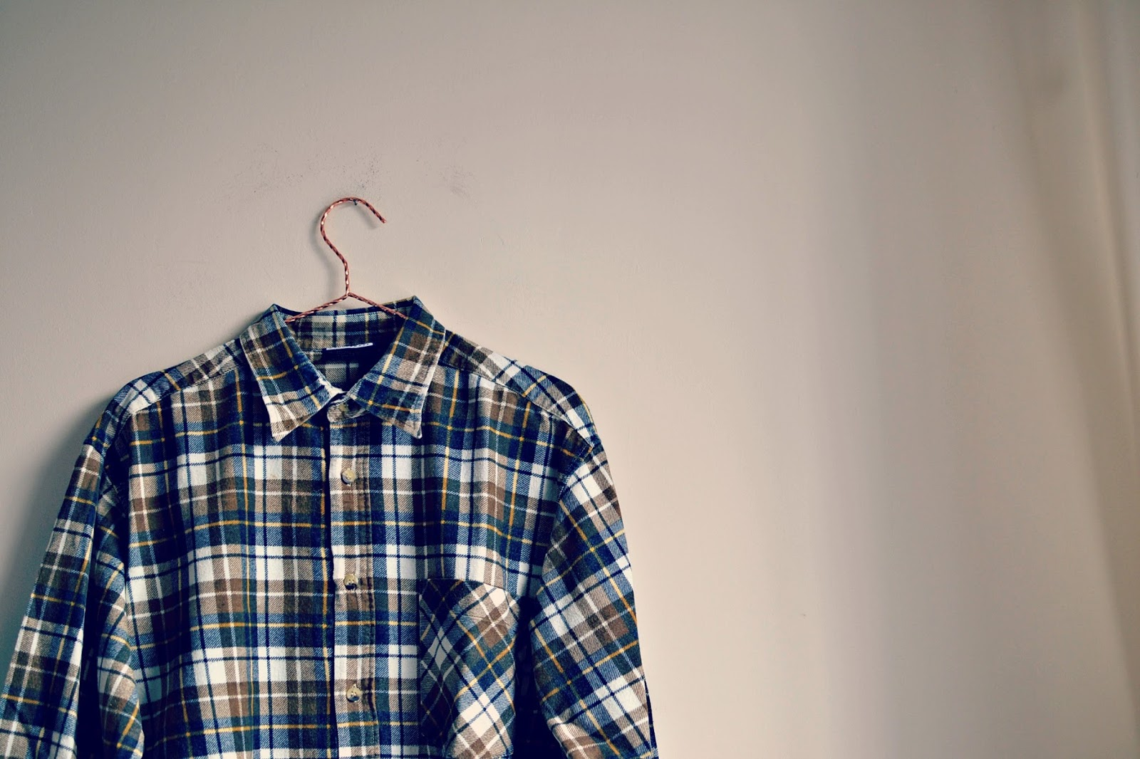 vintage flannel checked shirt