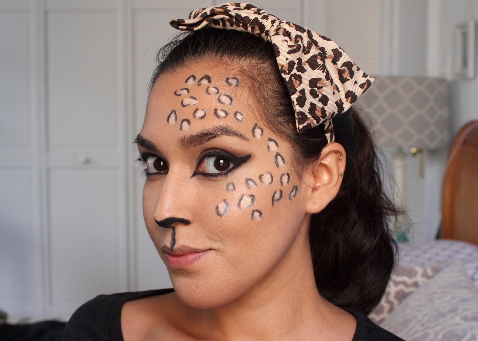 Madeulook by lex's leopard makeup tutorial featuring bh cosmetics.