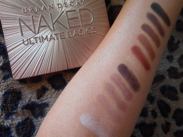 Urban Decay Naked Ultimate Basics palette swatches