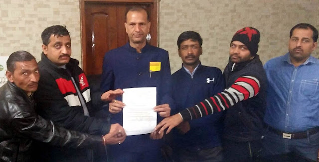 Memorandum given by Live for Nation Organization for Imagery of Shahid Chandra Shekhar Azad