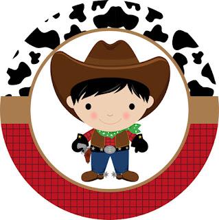 Toppers o Etiquetas de Bebés Vaqueros para imprimir gratis.