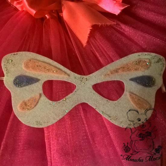 маска-бабочка, фетровая маска-бабочка, маска-бабочка из фетра, мышка мося