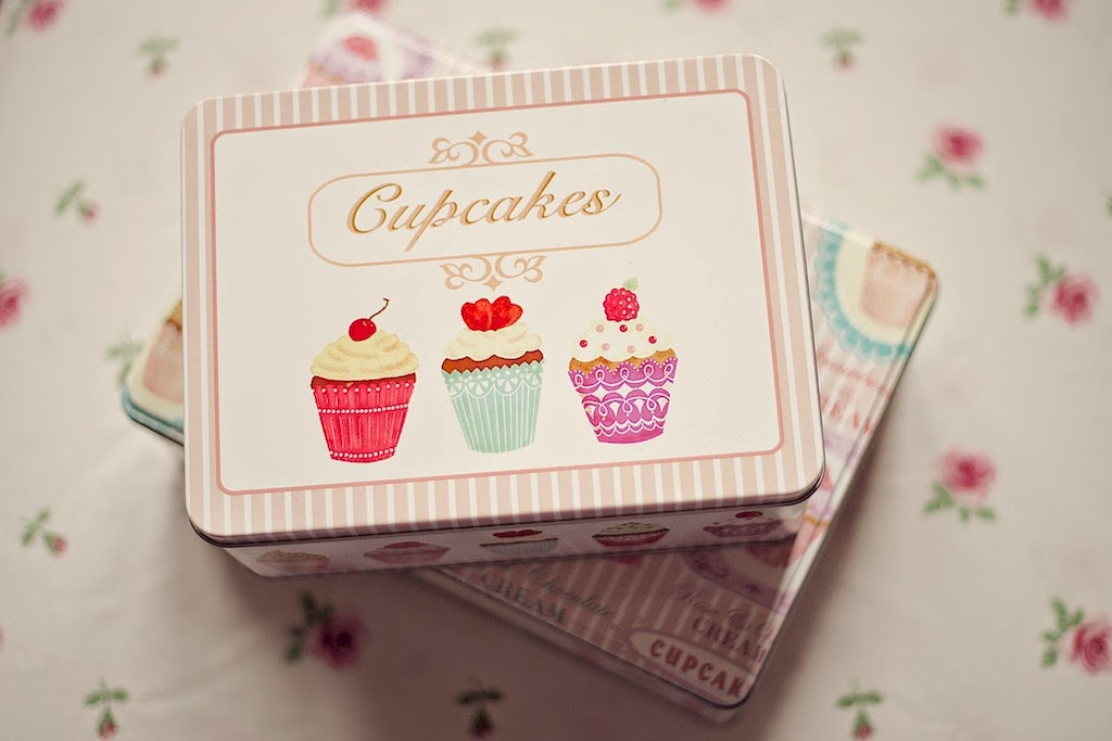 Cupcake design tins from Dunelm