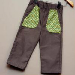 Boy Khaki pants with contrasting pocket detail