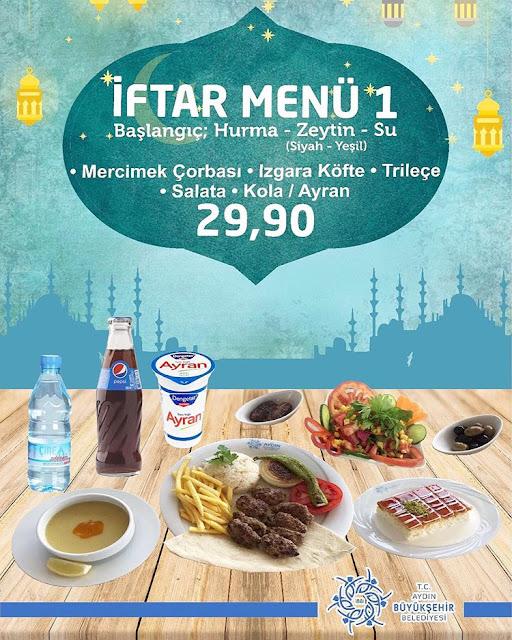 aydın belediyesi cafe restaurant aydın iftar mekanları aydın iftar yerleri aydın ramazan menüsü