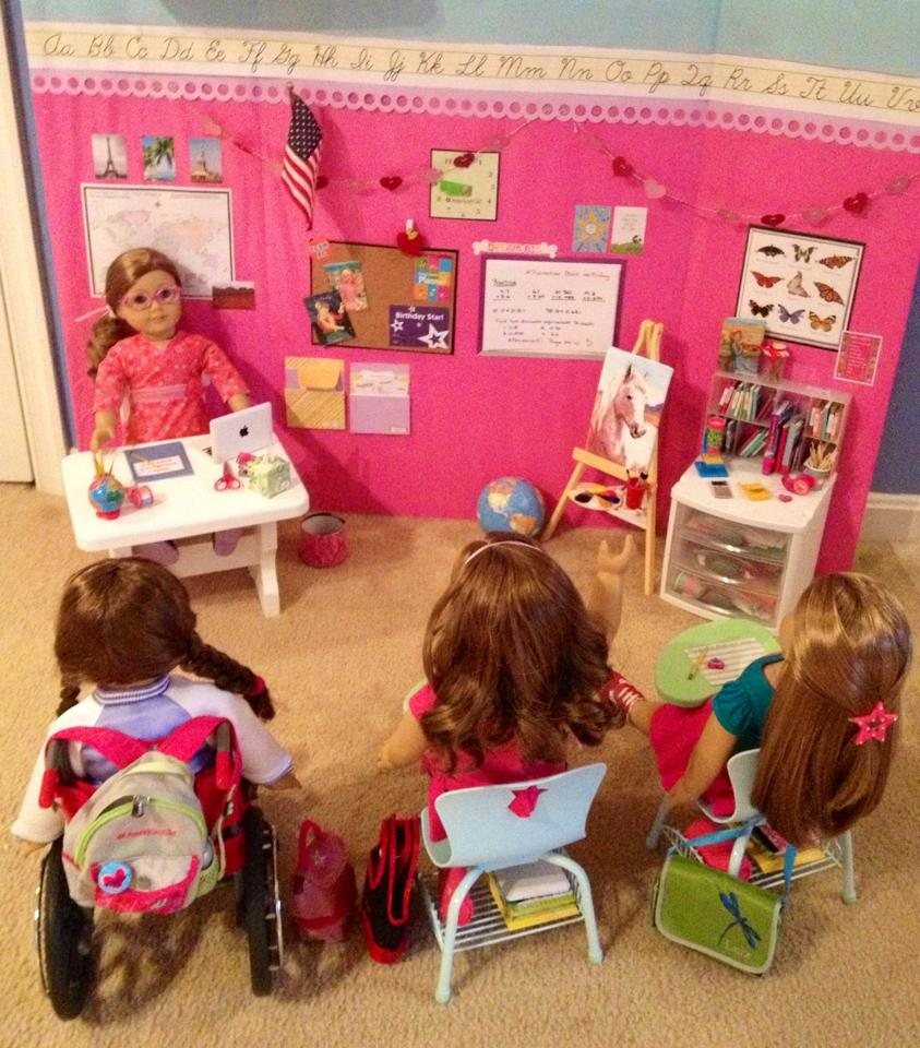 American Girl Doll Desk And School Set Marvelous Interior Images