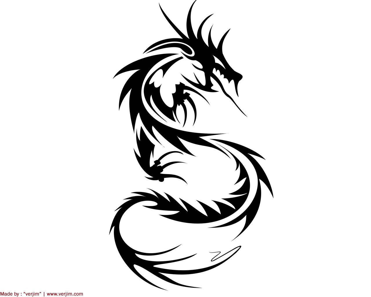Dragon directory: Dragon Tattoo Tribal  Tribal Art Dragon Simple