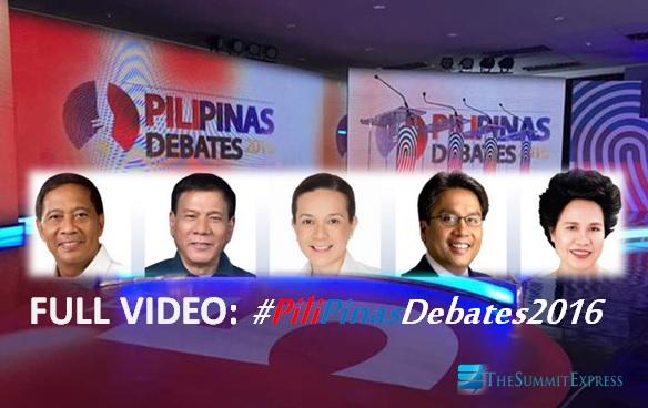 Comelec-TV5 Pilipinas Debates 2016 full video replay