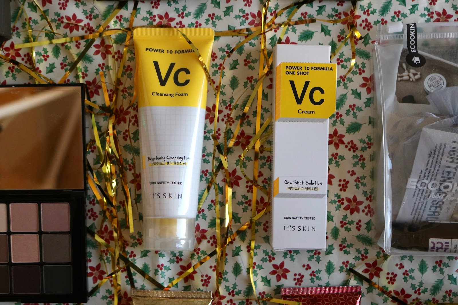 IT'S SKIN POWER 10 VC FACE CLEANSING FOAM AND ONE SHOT SOLUTION MOISTURISER