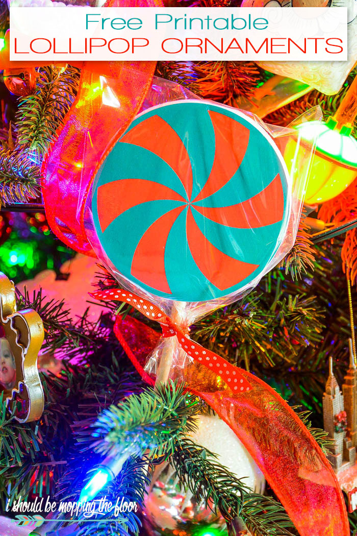 Free Printable Lollipop Ornaments