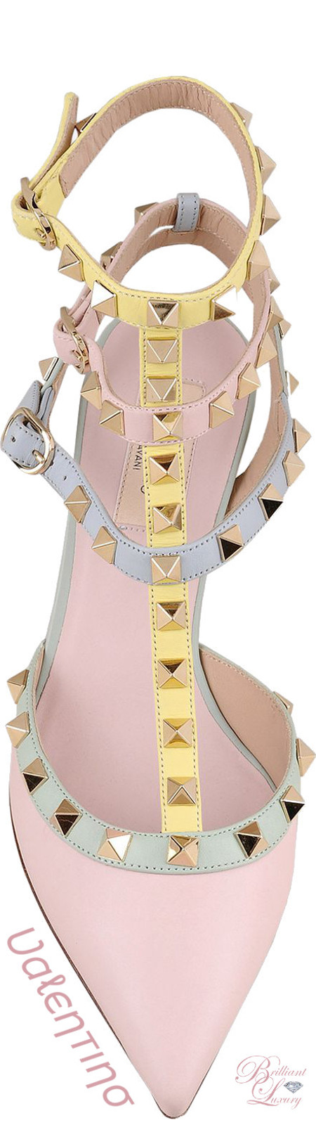 Brilliant Luxury ♦ Valentino Watercolor Rockstud Ankle Strap