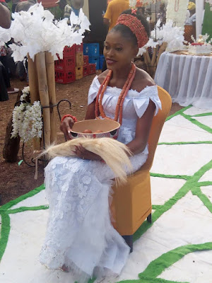 See Adorable Photos from the Trad of Miss Eucharia Okoh, Female Graduate of UNIZIK