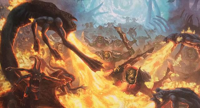 Age of Sigmar battle report: Border War' between Orruk Ironjawz and Disciples of Tzeentch.