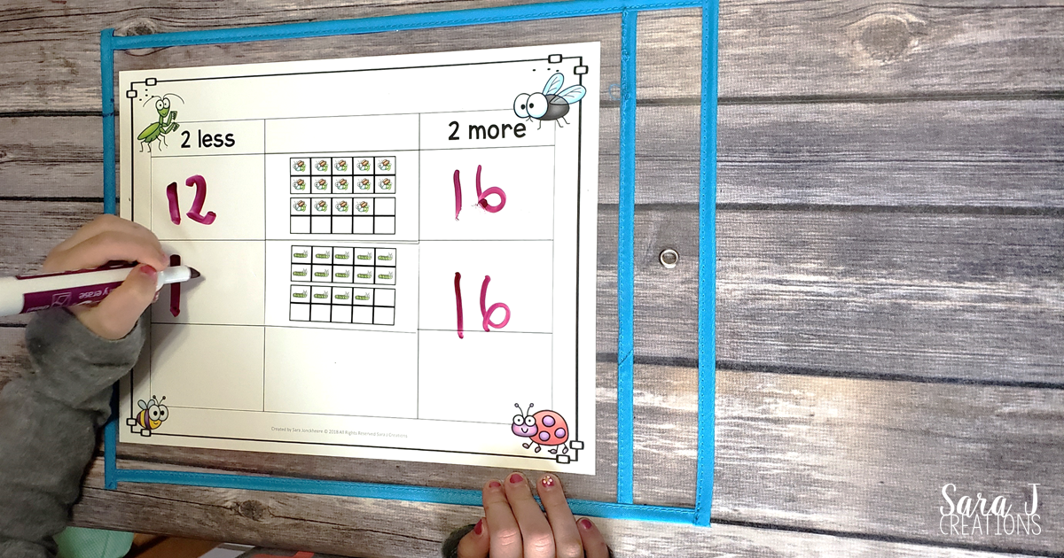 Ten Frame Game More and Less | Sara J Creations