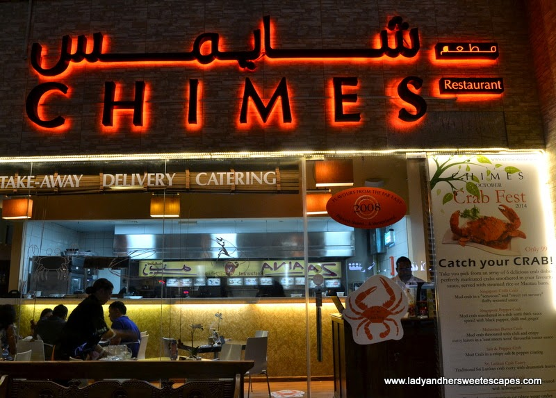 Chimes Far Eastern restaurant in Al Barsha