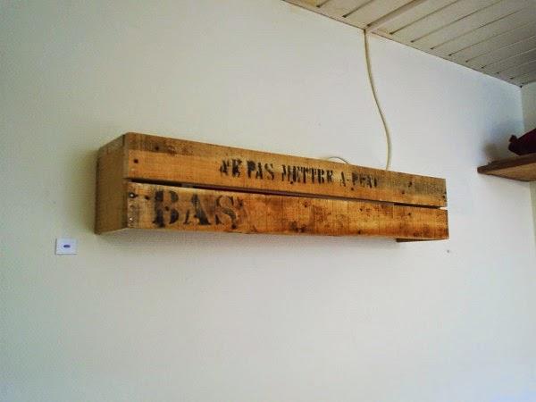 L mpara r stica para la pared con un - Como hacer una lampara de pared ...