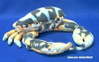 blue crab plush stuffed animal realistic toy